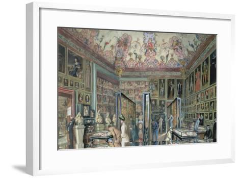 The Genealogy Room of the Ambraser Gallery in the Lower Belvedere, 1888-Carl Goebel-Framed Art Print