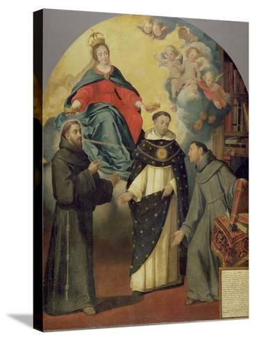 The Vision of Fray Lauterio, C.1640-Bartolome Esteban Murillo-Stretched Canvas Print