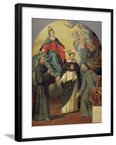 The Vision of Fray Lauterio, C.1640-Bartolome Esteban Murillo-Framed Art Print