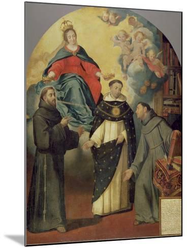 The Vision of Fray Lauterio, C.1640-Bartolome Esteban Murillo-Mounted Giclee Print