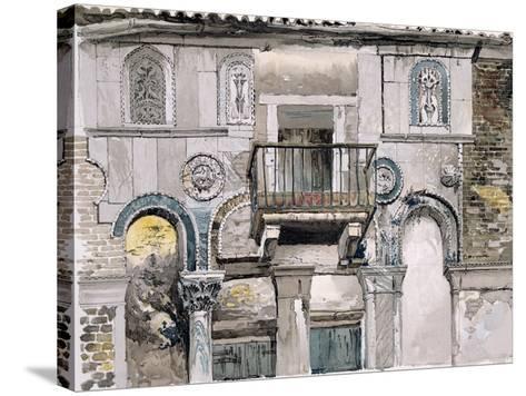 Fondaco Dei Turchi, Venice-John Ruskin-Stretched Canvas Print