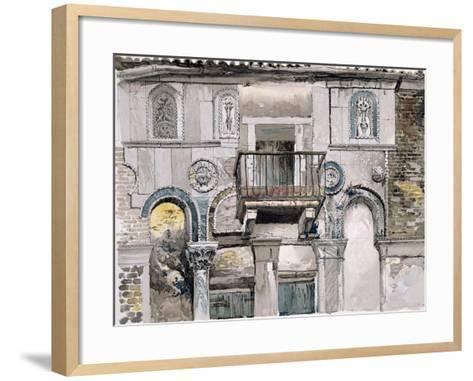 Fondaco Dei Turchi, Venice-John Ruskin-Framed Art Print