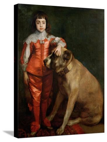 Full Length Portrait of Charles II as a Boy with a Mastiff-Sir Anthony Van Dyck-Stretched Canvas Print