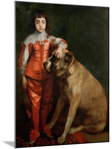 Full Length Portrait of Charles II as a Boy with a Mastiff-Sir Anthony Van Dyck-Mounted Giclee Print