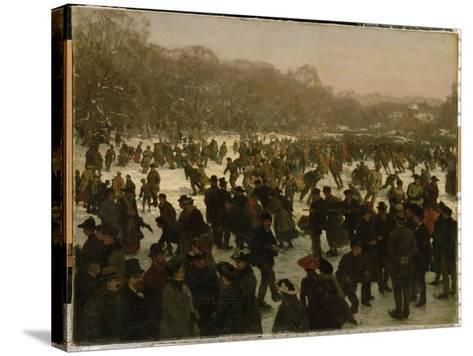 Skating in Haagse Bos-Willem Tholen-Stretched Canvas Print