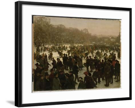 Skating in Haagse Bos-Willem Tholen-Framed Art Print