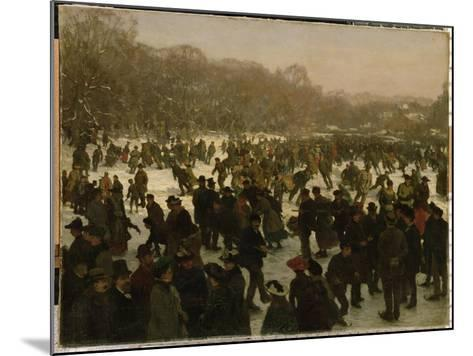 Skating in Haagse Bos-Willem Tholen-Mounted Giclee Print
