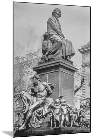 Monument to Ludwig Van Beethoven, the Composer Seated on a Pedestal Above Figures Alluding to the?--Mounted Photographic Print