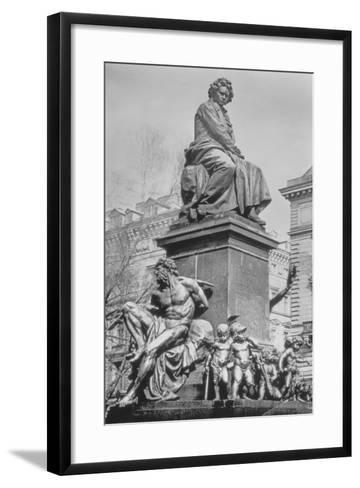 Monument to Ludwig Van Beethoven, the Composer Seated on a Pedestal Above Figures Alluding to the?--Framed Art Print
