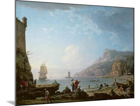 Morning Scene in a Bay, 1752-Claude Joseph Vernet-Mounted Giclee Print