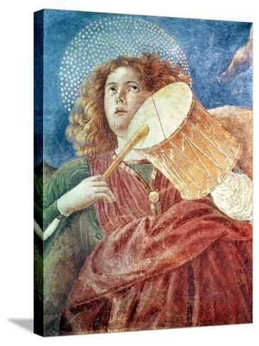 Musical Angel with Drum-Melozzo Da Forli-Stretched Canvas Print