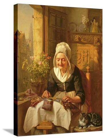 The Old Lacemaker, 1844-J^l^ Dyckmans-Stretched Canvas Print