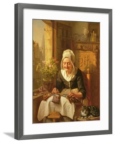 The Old Lacemaker, 1844-J^l^ Dyckmans-Framed Art Print