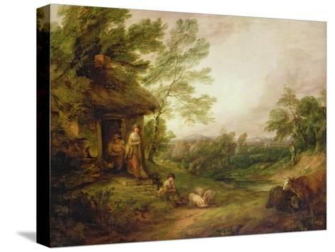 Cottage Door with Girl and Pigs, C.1786-Thomas Gainsborough-Stretched Canvas Print