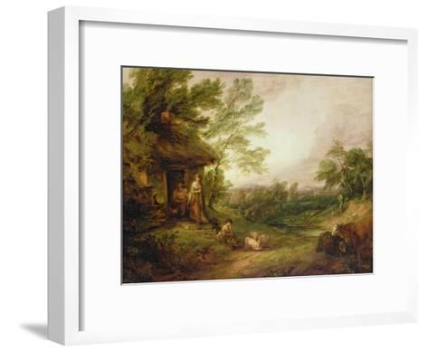 Cottage Door with Girl and Pigs, C.1786-Thomas Gainsborough-Framed Art Print