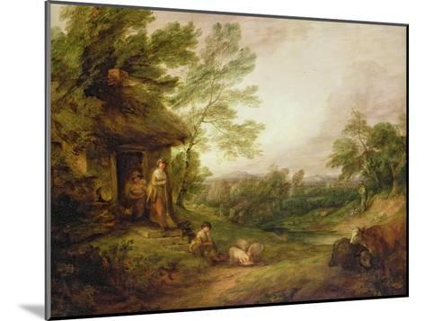 Cottage Door with Girl and Pigs, C.1786-Thomas Gainsborough-Mounted Giclee Print