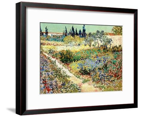 The Garden At Arles, 1888 Vincent Van Gogh Framed Art Print