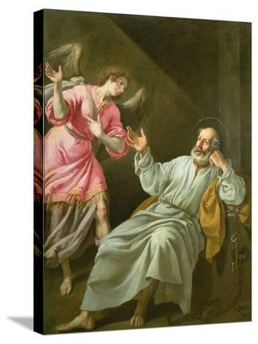 St. Peter's Release from Prison-Felix Castello-Stretched Canvas Print