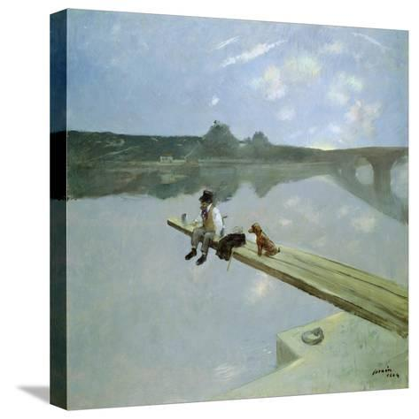 The Fisherman, 1884-Jean Louis Forain-Stretched Canvas Print