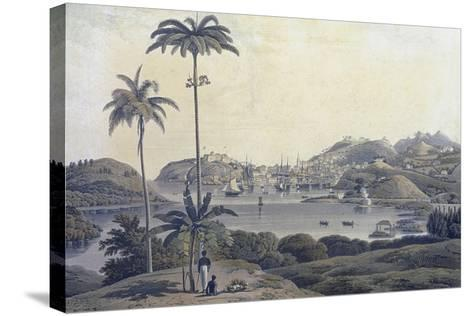 A View of the Town of St. George on the Island of Grenada, Taken from the Belmont Estate,…-Lieutenant-Colonel J. Wilson-Stretched Canvas Print