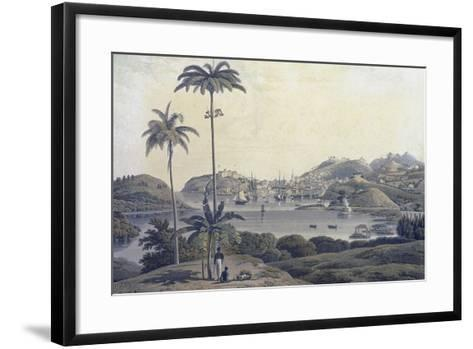 A View of the Town of St. George on the Island of Grenada, Taken from the Belmont Estate,…-Lieutenant-Colonel J. Wilson-Framed Art Print