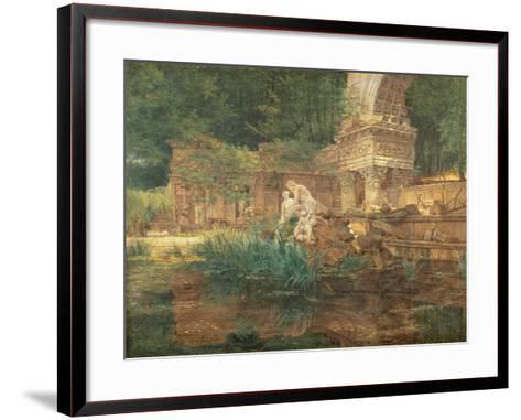 The Roman Ruins in the Gardens of Schonbrunn Palace-Ferdinand Georg Waldmuller-Framed Art Print