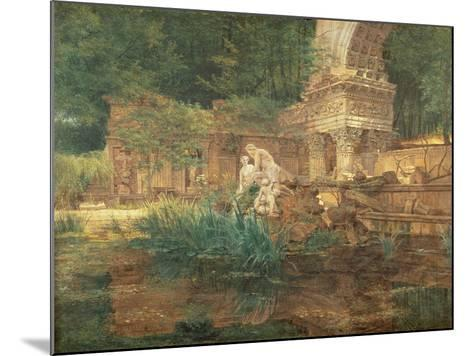 The Roman Ruins in the Gardens of Schonbrunn Palace-Ferdinand Georg Waldmuller-Mounted Giclee Print