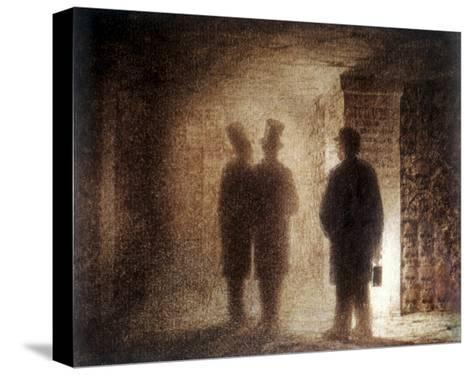 """Paris Catacombs, One of the """"Pictures at an Exhibition""""-Viktor Aleksandrovich Gartman-Stretched Canvas Print"""