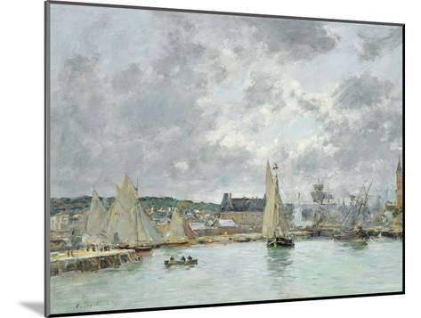 Trouville Harbour, 1880-Eug?ne Boudin-Mounted Giclee Print