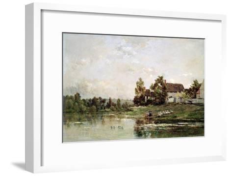 The Banks of the Seine at Portejoie, 1871-Charles Francois Daubigny-Framed Art Print