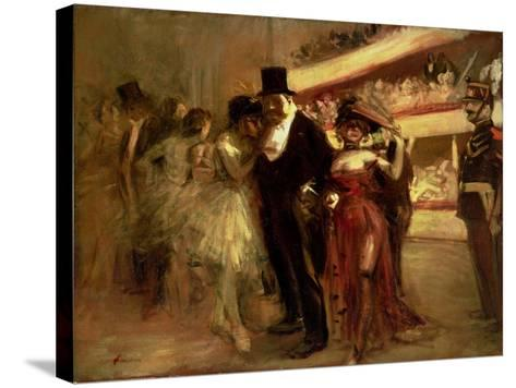 The Opera Stage-Jean Louis Forain-Stretched Canvas Print