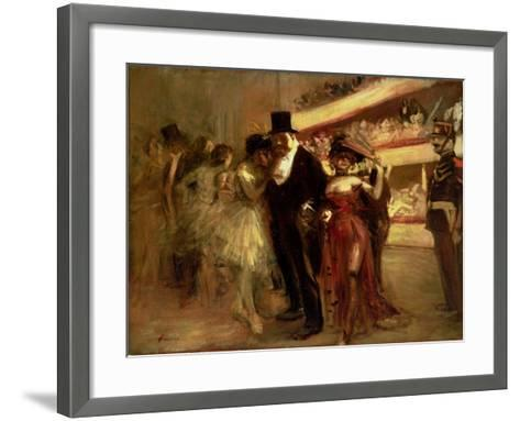 The Opera Stage-Jean Louis Forain-Framed Art Print