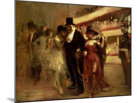 The Opera Stage-Jean Louis Forain-Mounted Giclee Print