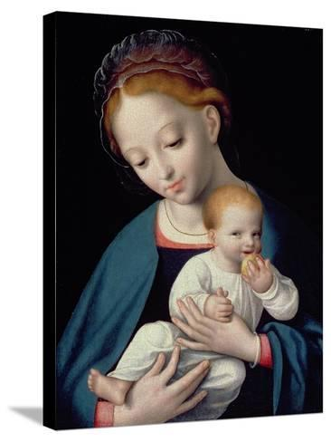 Virgin and Child-Cornelis van Cleve-Stretched Canvas Print