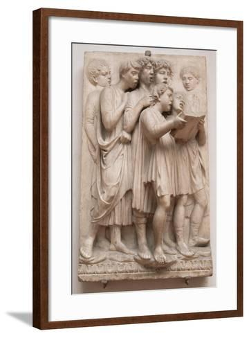 Singing Angels, Detail from the Cantoria, C.1432-38-Luca Della Robbia-Framed Art Print