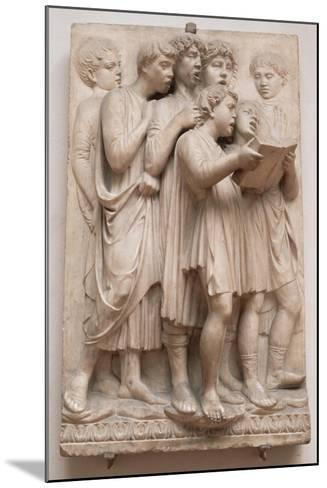 Singing Angels, Detail from the Cantoria, C.1432-38-Luca Della Robbia-Mounted Giclee Print