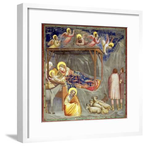 The Nativity, C.1305-Giotto di Bondone-Framed Art Print
