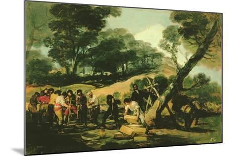 Clandestine Manufacture of Gunpowder, 1812-13-Francisco de Goya-Mounted Giclee Print