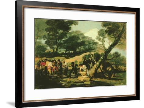 Clandestine Manufacture of Gunpowder, 1812-13-Francisco de Goya-Framed Art Print
