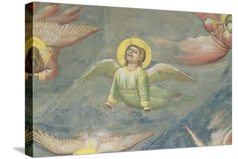 Angel, from the Lamentation, C.1305 (Detail)-Giotto di Bondone-Stretched Canvas Print