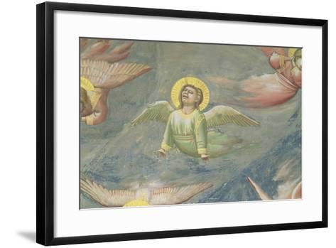 Angel, from the Lamentation, C.1305 (Detail)-Giotto di Bondone-Framed Art Print