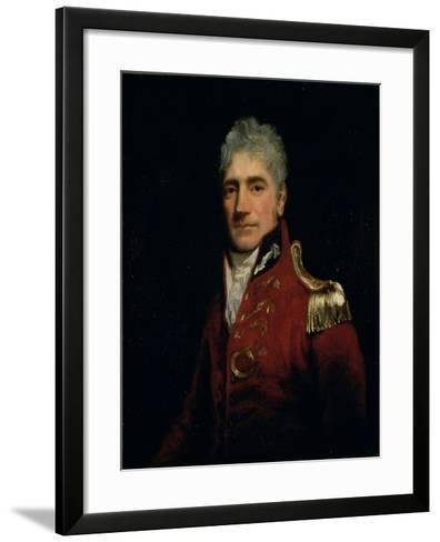 Possibly a Portrait of Major General Lachlan Macquarie (1761-1824), Governor of New South Wales…-John Opie-Framed Art Print