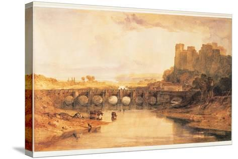 Ludlow Castle, 1800-J^ M^ W^ Turner-Stretched Canvas Print