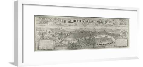 """""""The Citty of Bristoll"""", Perspective View by James Millerd, Pub.1673--Framed Art Print"""