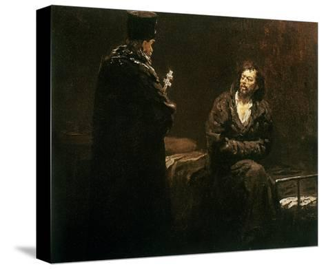 Refusal of Confession, 1879-85-Ilya Efimovich Repin-Stretched Canvas Print