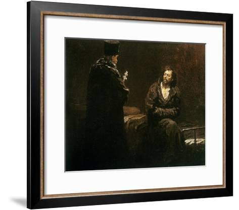 Refusal of Confession, 1879-85-Ilya Efimovich Repin-Framed Art Print