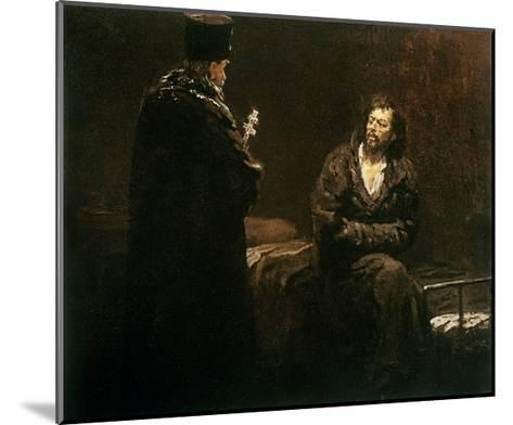 Refusal of Confession, 1879-85-Ilya Efimovich Repin-Mounted Giclee Print