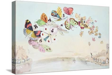 """""""E-Migration, or a Flight of 'Fair' Game"""", a Cartoon Satirising the Encouragement of Unmarried…--Stretched Canvas Print"""