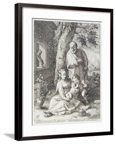 The Holy Family with St. John, 1593-Hendrik Goltzius-Framed Art Print