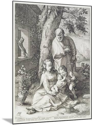 The Holy Family with St. John, 1593-Hendrik Goltzius-Mounted Giclee Print